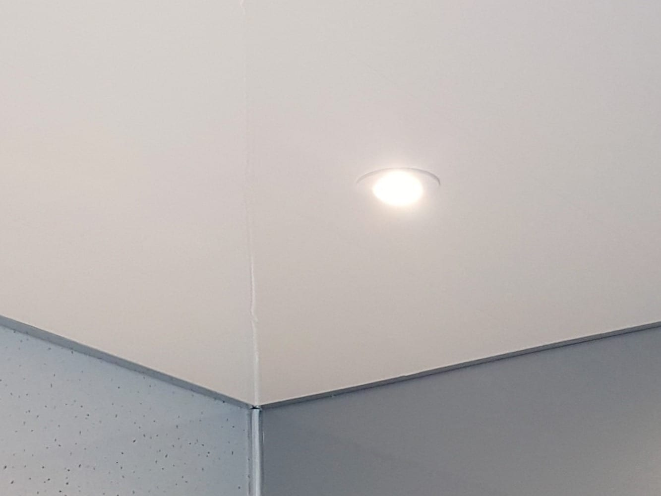 Classic white ceiling panels